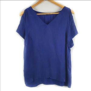 All Saints Camile Cold Shoulder Tee | 0